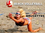 Beach Volleyball: Blondes VS Brunettes adult game