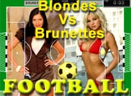 Football: Blondes Vs Brunettes adult game